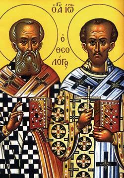 Ikon av Johannes og Gregor
